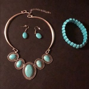 Jewelry - Necklace, Earrings and Bracelet Set